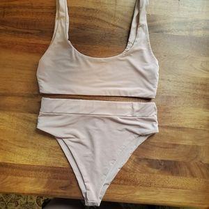 Naked Wardrobe High Waisted Bikini Swimwear